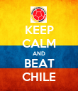 KEEP CALM AND BEAT CHILE - Personalised Poster large