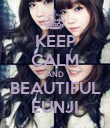 KEEP CALM AND BEAUTIFUL EUNJI - Personalised Large Wall Decal