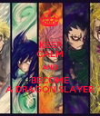 KEEP CALM AND BECOME A DRAGON SLAYER - Personalised Poster large