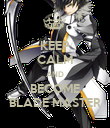 KEEP CALM AND BECOME BLADE MASTER - Personalised Poster large