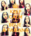 KEEP CALM AND BEIJE  A FABIANA - Personalised Poster large