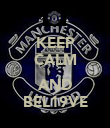 KEEP CALM  AND BEL19VE - Personalised Poster large
