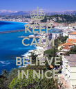 KEEP CALM AND BELIEVE IN NICE - Personalised Poster large