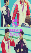 KEEP CALM AND BELIEVE IN SUNDAE - Personalised Poster large