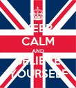 KEEP CALM AND BELIEVE YOURSELF - Personalised Poster large