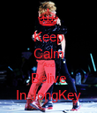 Keep Calm And Belive In JongKey - Personalised Poster large