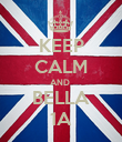 KEEP CALM AND  BELLA 1A - Personalised Poster large
