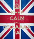 KEEP CALM AND  BELLAAAA 1A - Personalised Poster large