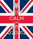 KEEP CALM AND BFF  020812 - Personalised Poster large