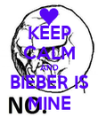 KEEP CALM AND BIEBER IS MINE - Personalised Poster large