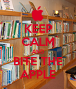 KEEP CALM AND BITE THE APPLE - Personalised Poster large