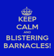 KEEP CALM AND BLISTERING BARNACLES! - Personalised Poster large
