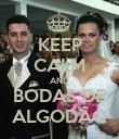 KEEP CALM AND BODAS DE ALGODÃO - Personalised Poster large