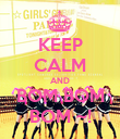 KEEP CALM AND BOM BOM BOM ~! - Personalised Poster large