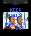 KEEP CALM AND Book em Danno - Personalised Poster large