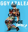 KEEP CALM AND BOUNCE  - Personalised Poster large