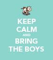 KEEP CALM AND BRING THE BOYS - Personalised Poster large