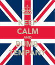 KEEP CALM AND BUMB  TEMPANY - Personalised Poster large