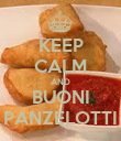 KEEP CALM AND BUONI PANZELOTTI - Personalised Poster large