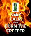 KEEP CALM AND BURN THE CREEPER - Personalised Poster large