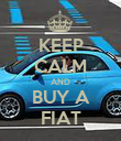 KEEP CALM AND BUY A FIAT - Personalised Poster large
