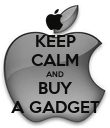 KEEP CALM AND BUY A GADGET - Personalised Poster large