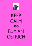 KEEP CALM AND BUY AN OSTRICH - Personalised Poster large