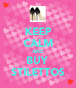 KEEP CALM AND BUY  STILETTOS - Personalised Poster large