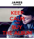 KEEP CALM AND BUY THE ALBUM - Personalised Poster large