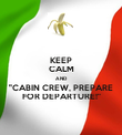 """KEEP CALM AND """"CABIN CREW, PREPARE FOR DEPARTURE!"""" - Personalised Poster large"""
