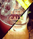 KEEP CALM AND call Barman - Personalised Poster large