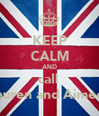 KEEP CALM AND call  lauren and Aimee  - Personalised Poster large