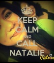 KEEP CALM AND CALL NATALIE - Personalised Poster large