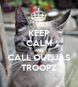 KEEP CALM AND CALL QUEIJAS TROOPZ - Personalised Poster large