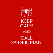 KEEP CALM AND CALL SPIDER-MAN - Personalised Poster large