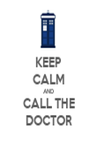 KEEP CALM AND CALL THE DOCTOR - Personalised Poster large