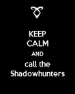 KEEP CALM AND call the Shadowhunters - Personalised Poster large