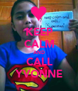 KEEP CALM AND CALL YVONNE - Personalised Poster large