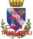 KEEP CALM AND CAMIN A TRINITAPOLI - Personalised Poster large