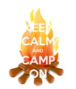 KEEP CALM AND CAMP ON - Personalised Poster large