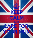 KEEP CALM AND CARE FOR  YOUR MUM - Personalised Poster large