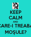 KEEP CALM AND CARE-I TREABA MOŞULE? - Personalised Poster large