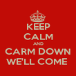 KEEP CALM AND CARM DOWN WE'LL COME  - Personalised Poster large