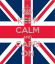 KEEP CALM AND CARRi ON - Personalised Poster large