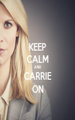 KEEP CALM AND CARRIE ON - Personalised Poster large