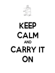 KEEP CALM AND CARRY IT ON - Personalised Poster large