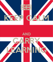 KEEP CALM  AND CARRY LEARNING - Personalised Poster large