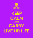 KEEP CALM AND CARRY LIVE UR LIFE - Personalised Poster large