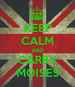 KEEP CALM AND CARRY MOISES - Personalised Poster large