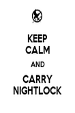 KEEP CALM AND CARRY NIGHTLOCK - Personalised Poster small